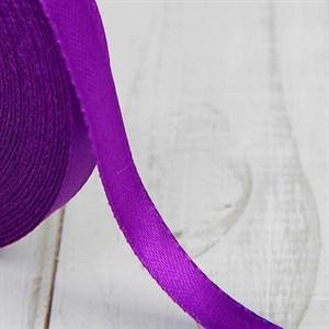 Лента атлас 10мм х 25 ярд фиолетовая