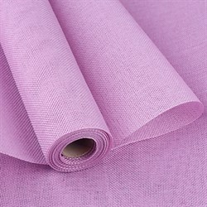 Лен искусственный 47см*4,5м лавандово-розовый