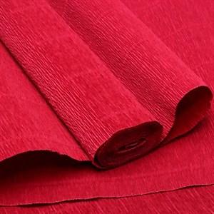 Бумага гофрированная простая марсала красный 180г