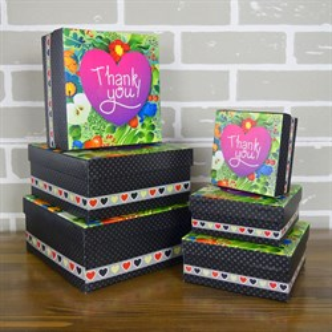Набор коробок Thank you 20.5*20.5*9.3см 6шт