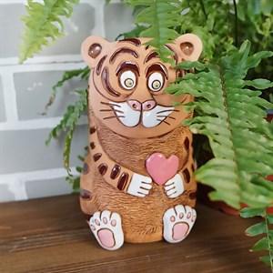 Кашпо Тигр с сердцем 1л