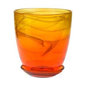 Горшок № 3 краш алебастр желто-оранжевый d14.5