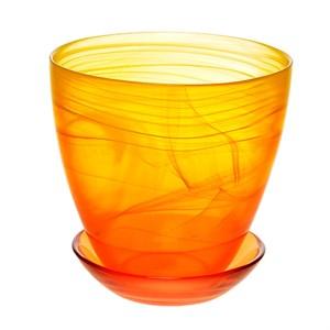 Горшок № 4 краш алебастр желто-оранжевый d15,5