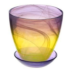 Горшок № 4 краш алебастр желто-фиолетовый d15,5
