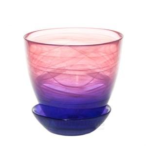 Горшок № 4 краш алебастр розово-фиолетовый d15,5