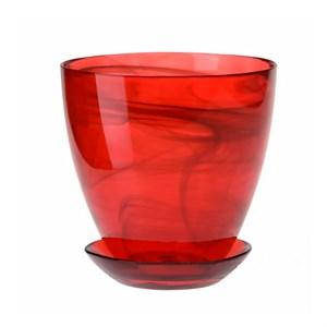 Горшок № 3 краш алебастр рубиновый d14.5