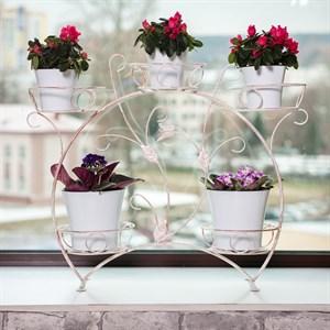 Подставка для цветов на подоконник 14-915 на 5 цветов