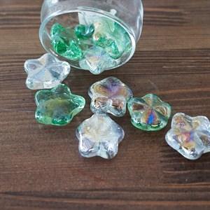 Грунт стеклян. №96 10шт морские звезды цветные