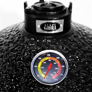 Гриль-барбекю яйцо керамический угольный черный, 39,8 см/16 дюймов - фото 87202