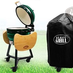 Гриль-барбекю яйцо керамический угольный зеленый, 39,8 см/16 дюймов - фото 87212