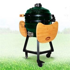 Гриль-барбекю яйцо керамический угольный зеленый, 39,8 см/16 дюймов - фото 87213
