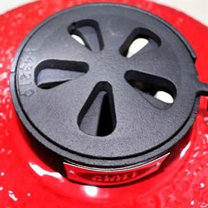 Гриль-барбекю яйцо керамический угольный красный, 56 см/22 дюйма - фото 87218