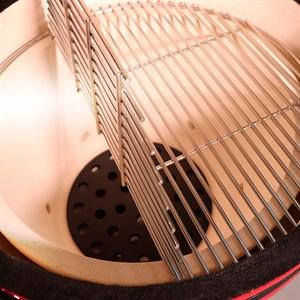 Гриль-барбекю яйцо керамический угольный красный, 56 см/22 дюйма - фото 87220