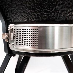 Гриль-барбекю яйцо керамический угольный черный, 56 см/22 дюйма - фото 87229