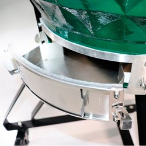 Гриль-барбекю яйцо керамический угольный зеленый, 61 см/24 дюйма - фото 87238
