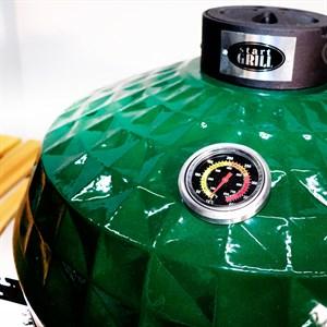 Гриль-барбекю яйцо керамический угольный зеленый, 61 см/24 дюйма - фото 87240