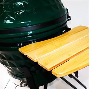 Гриль-барбекю яйцо керамический угольный зеленый, 61 см/24 дюйма - фото 87241