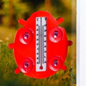 Термометр оконный Божья коровка 12*16см