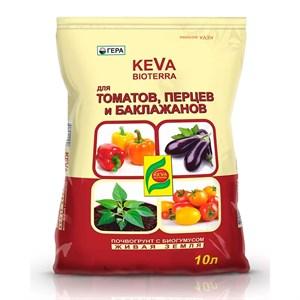 БиоГрунт КЕВА Биотерра для томатов и перцев 10л (8) Оптом