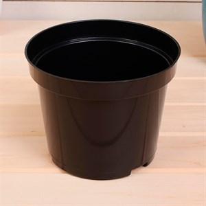 Горшок для рассады 19*15 3л круг черный - фото 90468
