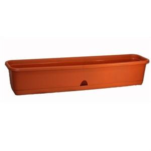 Ящик балконный ТЕРРА 80*19 коричневый