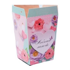Плайм пакет для цветов 150*120/90 Романтика любимой мамочке
