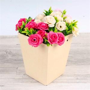 Плайм пакет для цветов 150*120/90 Пантон кремовый