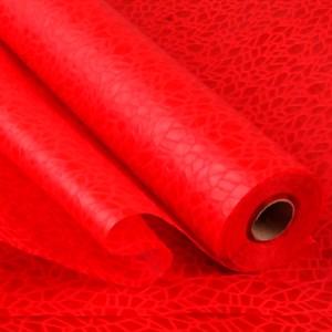 Фетр Ламинированный 50см х 5м 3Д Паутинка красный