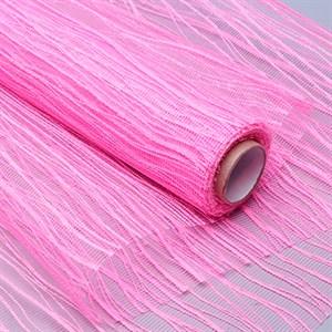 Сетка Волна 53см*5ярд розовый яркий