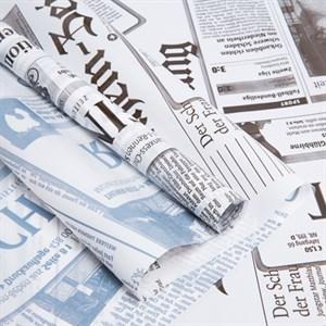 Пленка в рулоне 700 Газета бело-черный