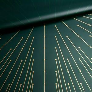 Пленка матовая 60*60см 20 лист Лучики зеленый