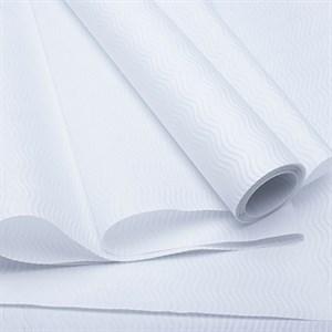 Бумага рельефная  70см*5м Волна белый/белый