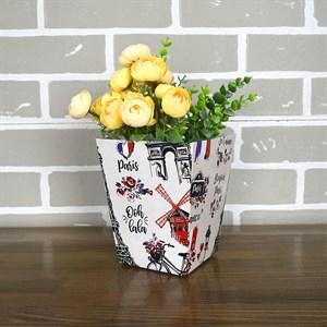 Плайм пакет для цветов 150*120/90 Серый Париж