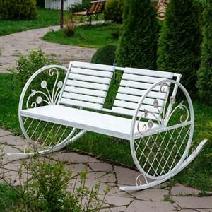 Кресло качалка белое дерево 881-37R