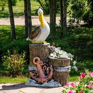 Фонтан садовый с пеликаном стеклопластик U08931
