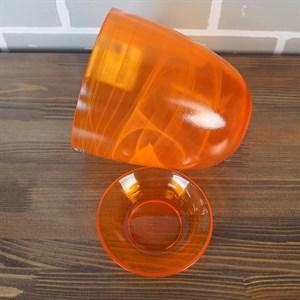 Горшок № 4 краш алебастр оранжевый d15,5