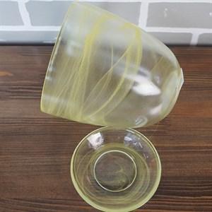 Горшок № 4 алебастр желтый d15.5