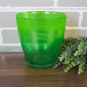 Горшок № 3 алебастр зеленый d14.5