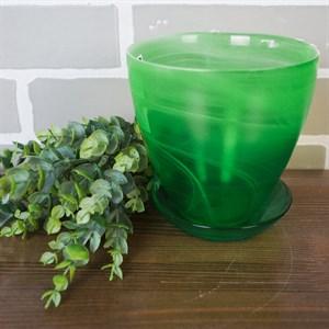 Горшок № 2 алебастр зеленый d13