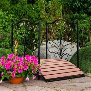 Мост садовый металл и террасная доска 862-25R - фото 92346