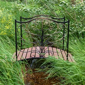 Мост садовый металл и террасная доска 862-25R - фото 92347