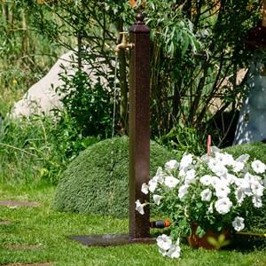 Колонка садовая дерево с металлом 55-101