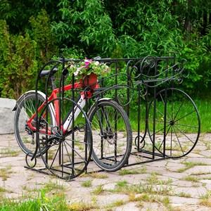 Велостоянка кованая для велосипедов высокая фигурная 71-212