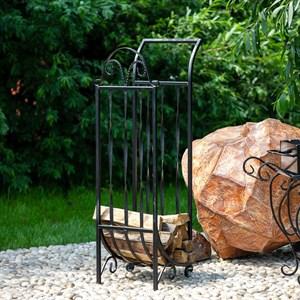 Дровница кованая высокая для камина и печи 500-87
