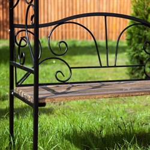 Арка садовая металлическая со скамьёй 860-64R - фото 92657