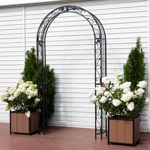 Арка садовая металл черная 863-47R