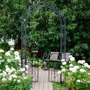Арка садовая черная с двумя дверцами 863-53R