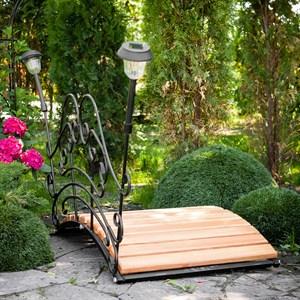Мост садовый декоративный с фонариками 862-02R