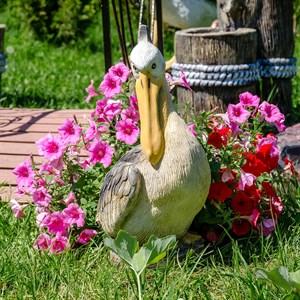 Фигура садовая Пеликан стеклопластик U08938