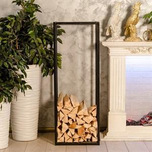 Дровница в стиле Лофт металлическая с деревом высокая 66-903